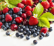 Assortment of summer berries. Stock Photo
