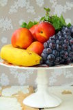 Assortment of summer fruits - peaches, apples Royalty Free Stock Image