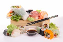Assortment of sushi Stock Photography