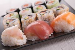 Assortment of sushi Royalty Free Stock Photography