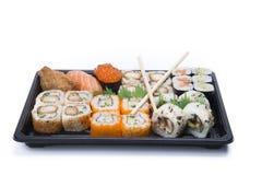 Assortment sushi with chopsticks Stock Image
