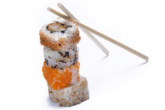 Assortment sushi with chopsticks Stock Photography