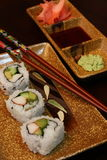 Assortment of sushi and condiments Royalty Free Stock Photo
