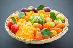 An assortment of sweet thai desserts Stock Image