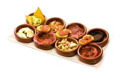 Assortment of tapas aperitif Royalty Free Stock Photography