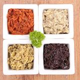 Assortment of tapenade Royalty Free Stock Photos