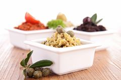 Assortment of tapenade Royalty Free Stock Images
