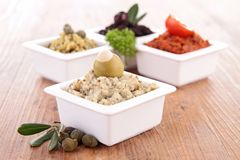 Assortment of tapenade Stock Photography