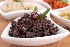 Assortment of tapenade Royalty Free Stock Photo