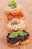 Assortment of tapenade Stock Photo
