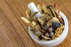 Assortment of Traditional Chinese herbal tea Royalty Free Stock Photo