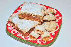 Homemade apple pie, jam cookies and gingerbread Stock Image