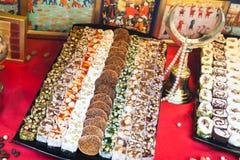 Assortment of Turkish delight Royalty Free Stock Photos