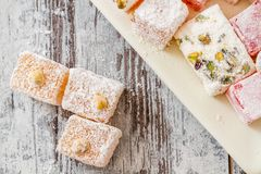 Assortment of Turkish Delight Royalty Free Stock Images