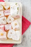 Assortment of Turkish Delight Stock Photography