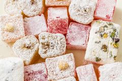 Assortment of Turkish Delight Royalty Free Stock Image