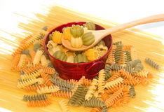 Assortment of uncooked pasta Stock Image