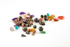 Assortment of Unique Beads. Assortment of Uniquely Shaped Natural Stone Beads Stock Image