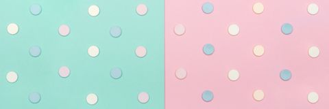 Assortment of various colourful pills isolated on blue pastel coloured background. Medication and prescription pills. Royalty Free Stock Images