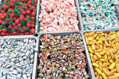 Assortment of various jelly candies Stock Photos