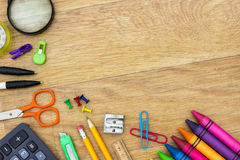 Assortment of various school items Royalty Free Stock Photography