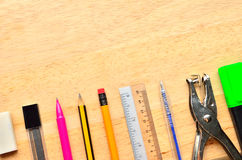 Assortment of various school items Stock Photography