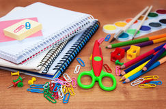 Assortment of various school items Stock Image