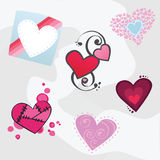 Assortment of Vector Hearts Royalty Free Stock Photos