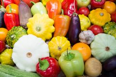 Assortment of vegetables. And paprika. marrow and cabbage, onion. Fresh  organic vegetables Royalty Free Stock Photos