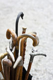 Assortment of walking sticks Stock Images