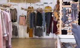 Assortment of warm fashionable clothing and accessories Royalty Free Stock Image