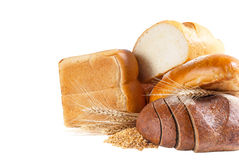 Assortment of wheat and rye bread Stock Images