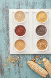Assortment of whole grains royalty free stock images