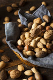 Assortment of Whole Raw Mixed Nuts Stock Images
