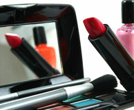 Assortment of women's cosmetics Royalty Free Stock Photos