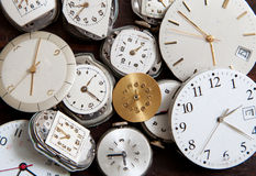 An assortment of wrist watch faces Royalty Free Stock Image