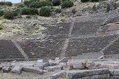 ASSOS古老剧院,土耳其 免版税库存照片