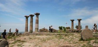 assos雅典娜寺庙 免版税库存图片