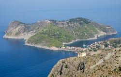 Assos, Kefalonia,希腊风景 图库摄影