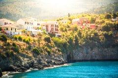 Assos, νησί Kefalonia, Ελλάδα στοκ φωτογραφίες με δικαίωμα ελεύθερης χρήσης