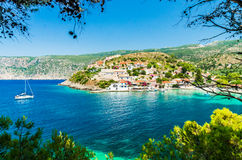 Assos на острове Kefalonia в Греции Стоковое Изображение RF