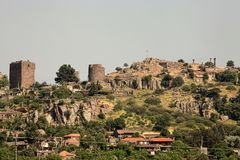 Assos ancient city. In Behramkale, Ayvacik, Turkey royalty free stock photography