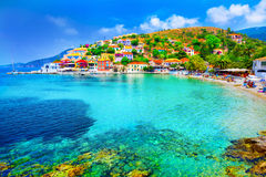 Assos beach Stock Image