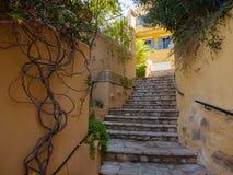 Assos by i den Kefalonia ön, Grekland royaltyfri foto