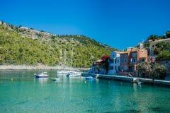 Assos i Kefalonia, Grekland Arkivfoton