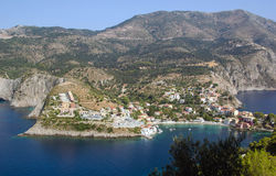 Assos at the Island of Kefalonia Stock Images