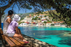 Assos on the Island of Kefalonia in Greece Royalty Free Stock Photos