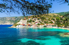 Assos on the Island of Kefalonia in Greece Stock Photography