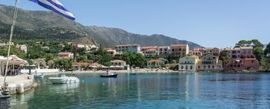 Assos, Kefalonia Греция стоковое фото
