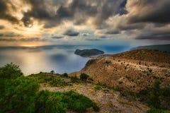 Assos, Kefalonia, Греция Стоковые Изображения RF